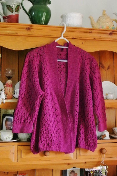 Machine Knitted Lace Cardigan
